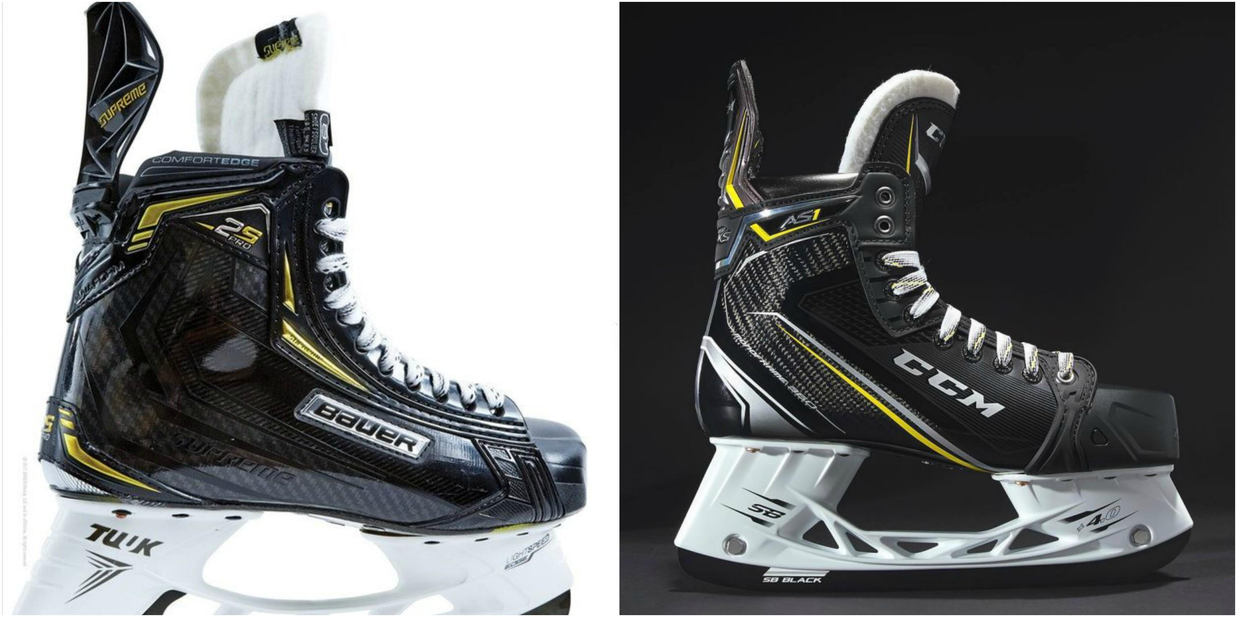 Heavy Caliber Skates Bauer 2S Vs CCM AS1